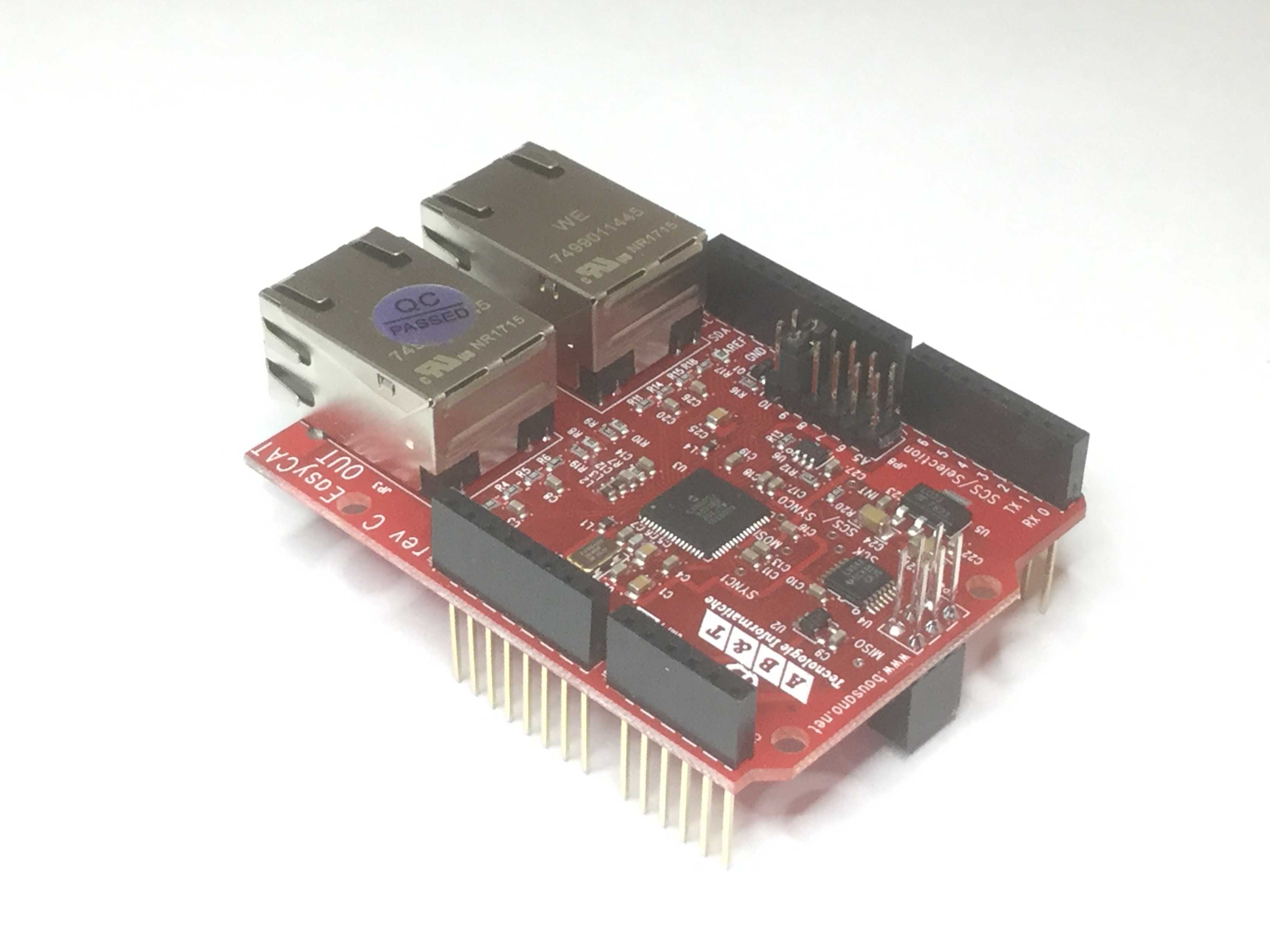 Ethercat And Arduino Arduinocircuitboardjpg The Easycat Shield Uses 3x2 Spi Connector To Communicate With Microcontroller This Is Standard On All Boards But Some